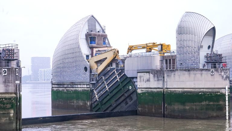 The Thames Barrier will be closed for the 200th time