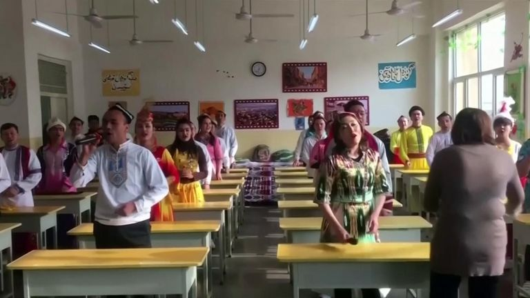 A Chinese defector has revealed to Sky News how Uighur detainees are transported in their hundreds on packed prison trains, along with details of torture and deaths inside re-education centres in Xinjiang.