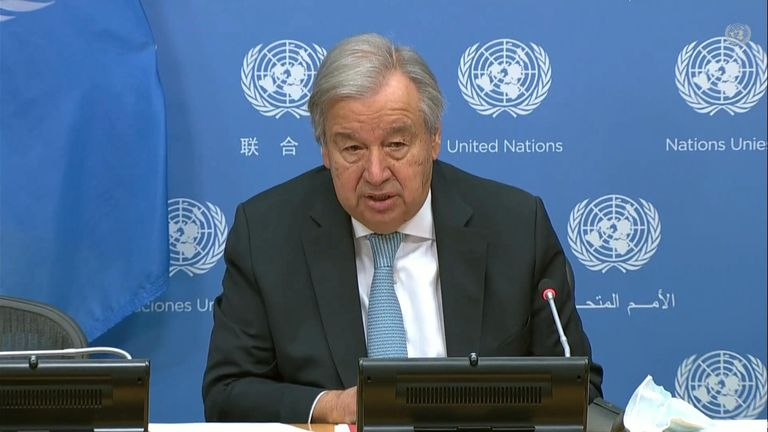 The UN secretary-general also said the UN climate report is 'thundering wake-up call' to world leaders.