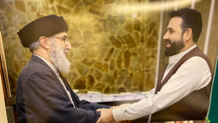 Re: Waheed Totakhyl  article from James Matthews  One other picture, which he has on his office wall, of him meeting Gulbuddin Hekmatyar, aka the 'Butcher of Kabul.' As mentioned in the copy.
