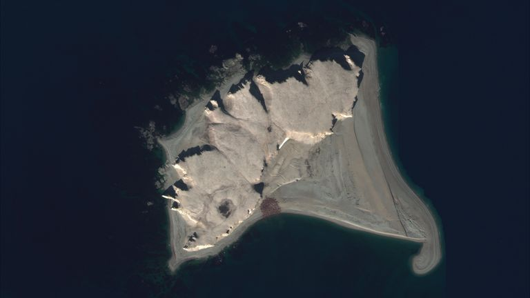 An example of a satellite image of an Atlantic walrus haul-out. Pic: Satellite imagery 2021Maxar Technologies