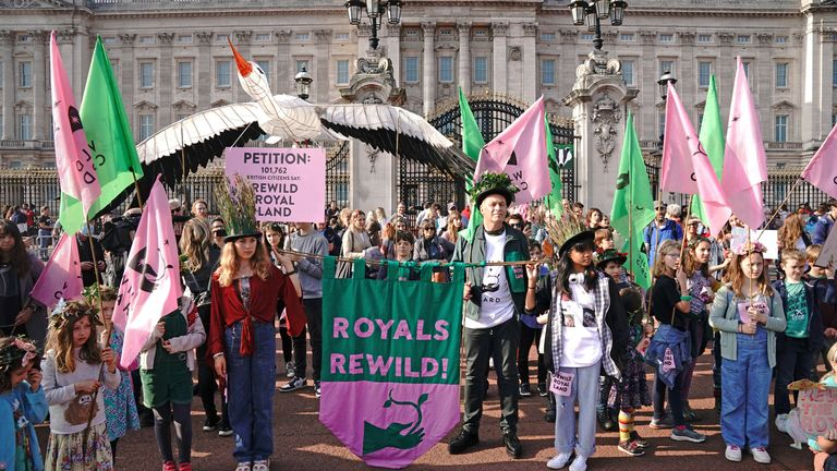 The petition calls on the Royal Family to re-wild their estates