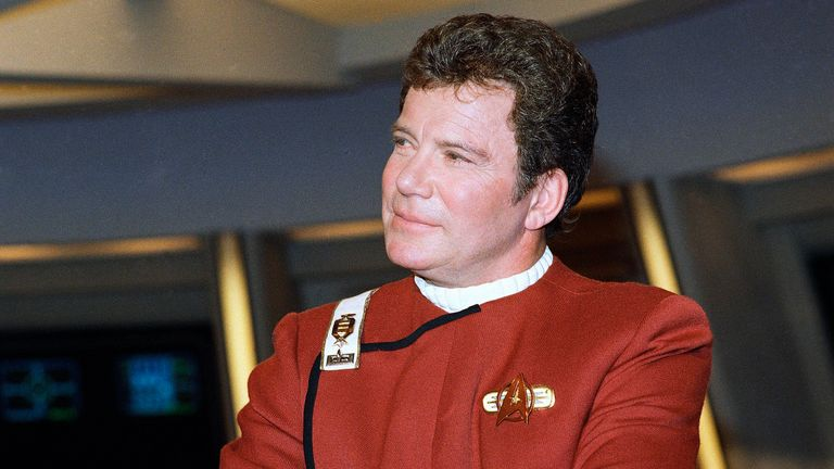 William Shatner - pictured here in 1988 - played Star Trek's Captain Kirk for decades. Pic: AP