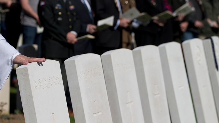 Lance Corporal Robert Cook will be laid to rest in the New Irish Farm cemetery near Ypres (File pic: AP)