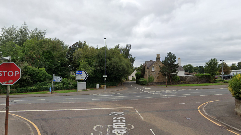 Police were called to James Street, at the junction with Kirkton Street, in Carluke. Pic: Google street view