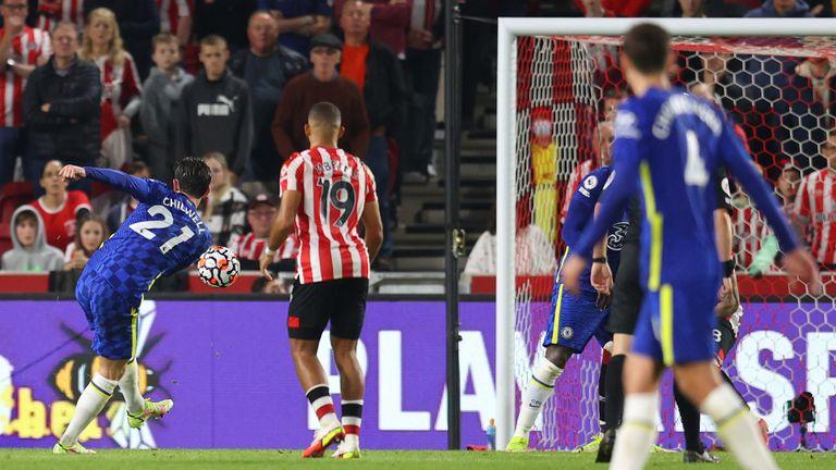 Ben Chilwell scores for Chelsea