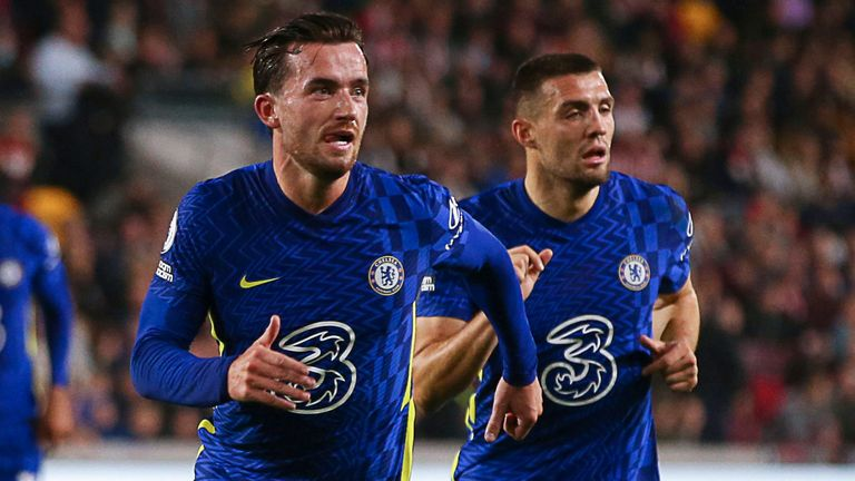 Ben Chilwell celebrates after scoring the opening goal (Paul Terry/CSM via ZUMA Wire)