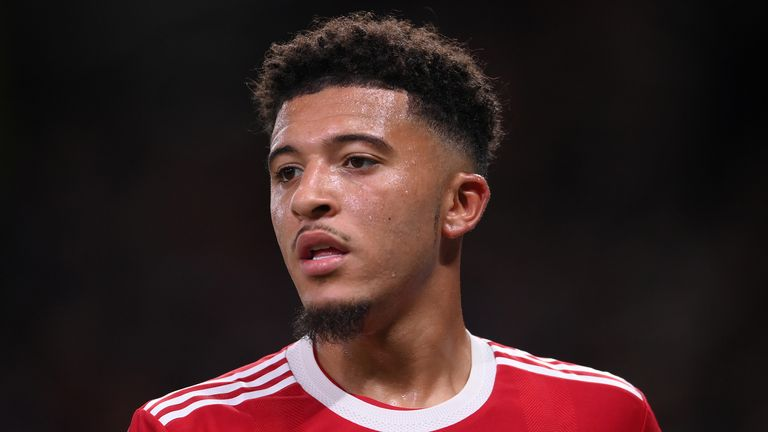 Manchester United's Jadon Sancho