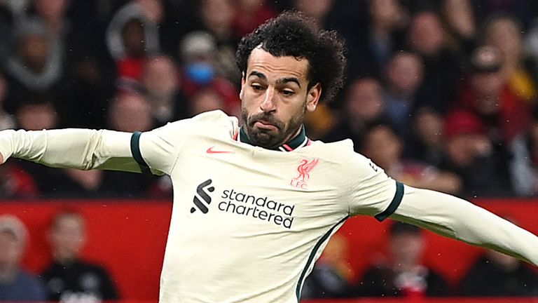 Mo Salah completes his hat-trick and puts Liverpool 5-0 up at Old Trafford