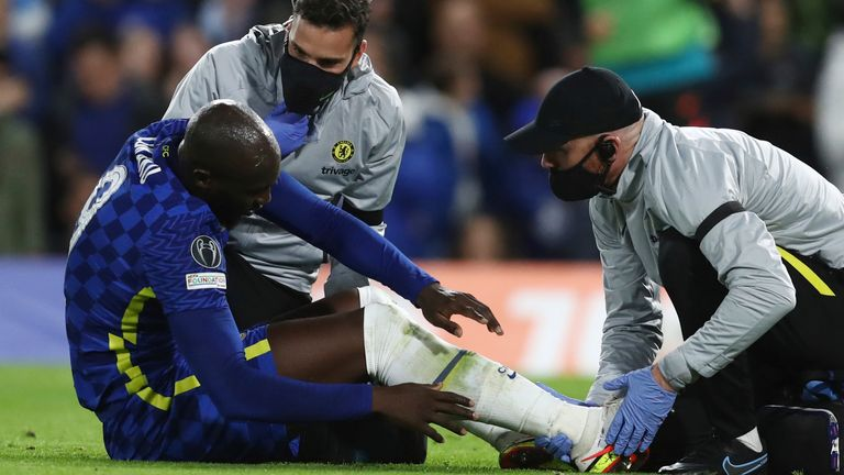 Romelu Lukaku was substituted after several minutes of treatment before half-time and disappeared straight down the tunnel in Chelsea's win over Malmo