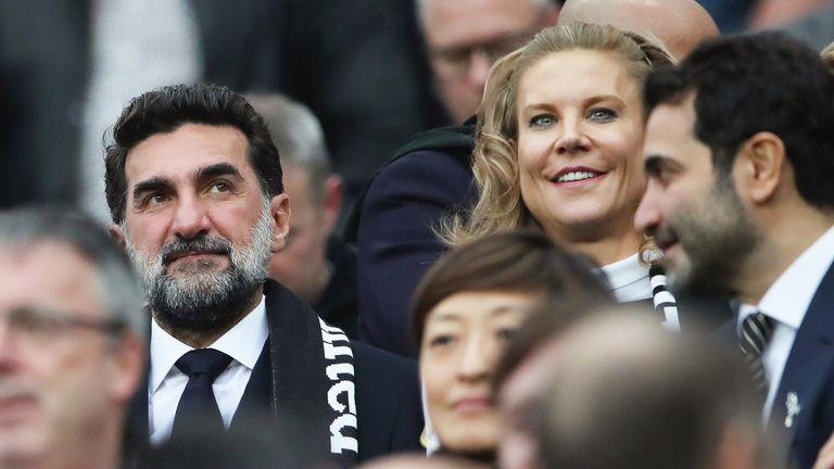 Newcastle United chairman, Yasir Al-Rumayyan and part-owner, Amanda Staveley at St. James' Park on Sunday